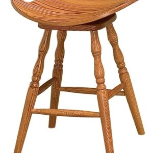 Saddle Swivel Stool with Holes on Ends
