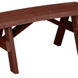 Finch Outdoor Poly Curved Garden Bench