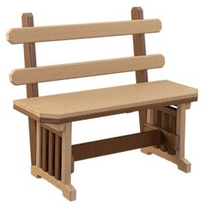 Finch Outdoor Poly Mission Bench with Back