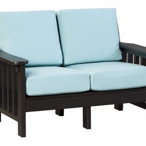 Finch Outdoor Poly Mission Loveseat