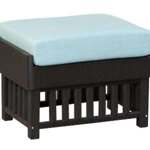 Finch Outdoor Poly Mission Ottoman