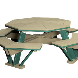 Finch Outdoor Poly Octagon Picnic Table