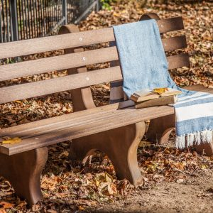 Finch Outdoor Poly Park Bench with Concrete legs