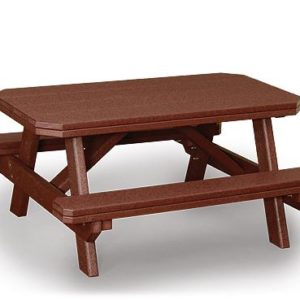 Finch Poly Child's Table with Benches
