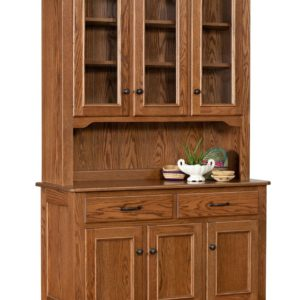 English Heirloom 3- Door Hutch