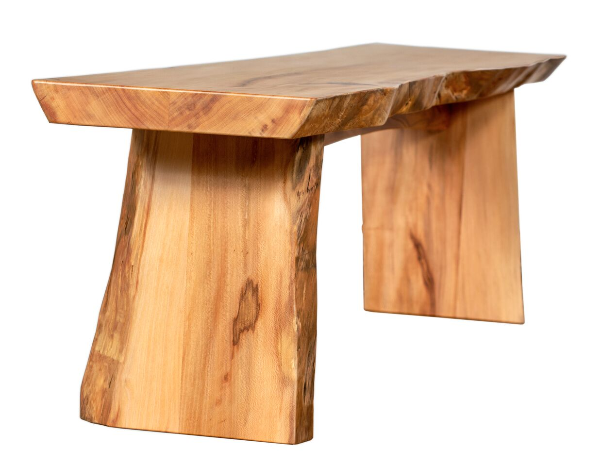 Miraculous Live Edge Sycamore Slab Bench Ibusinesslaw Wood Chair Design Ideas Ibusinesslaworg