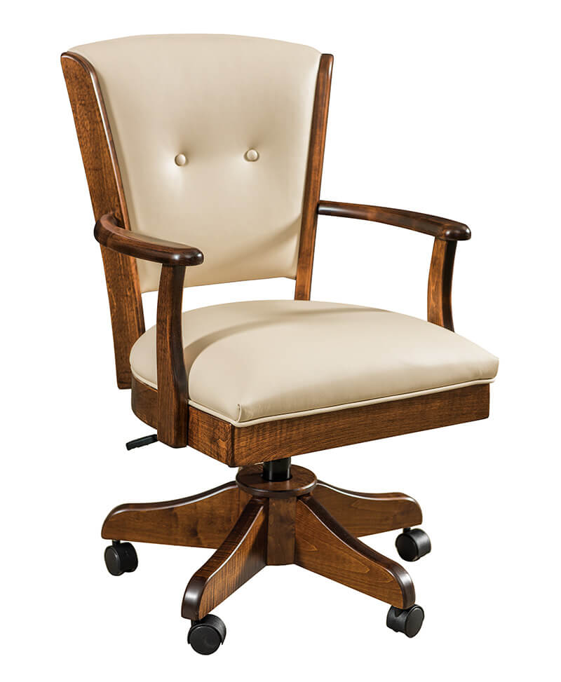 Lansfield Arm Upholstered Desk Chair