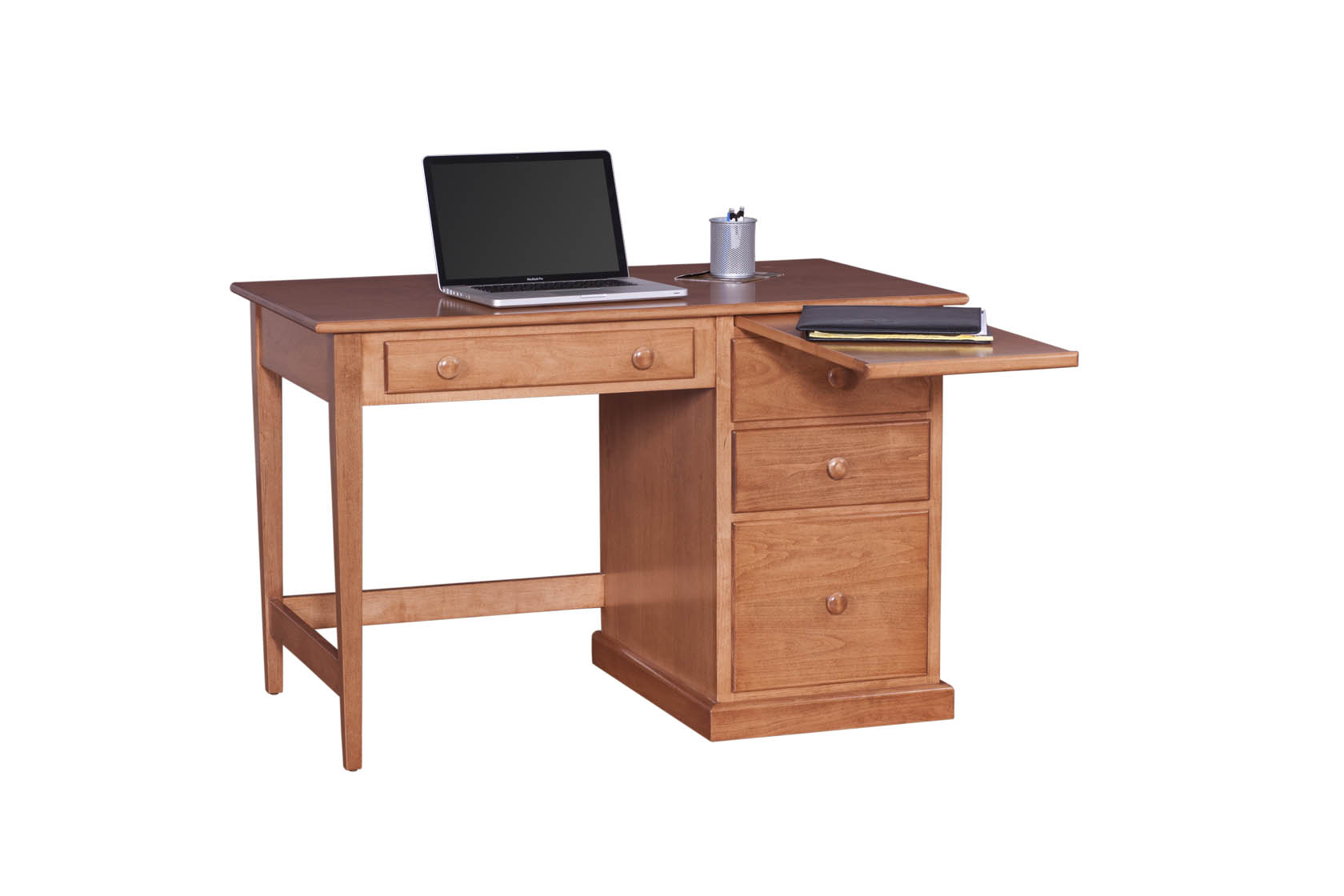 Shaker Student Desk With Side Panels Solid Martin S Furniture
