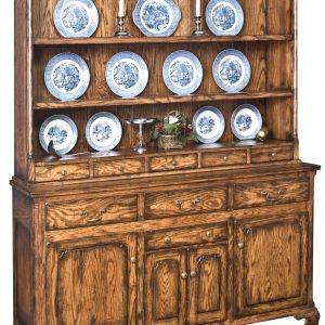English Delft Rack China Hutch