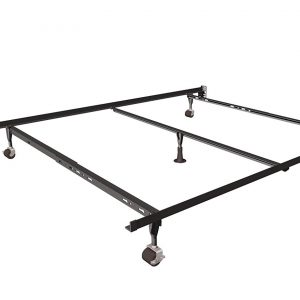 Deluxe Queen, King, California King Insta-Lock Bed Frame with 6- Nylon Glides