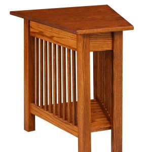 Square Slat Mission Wedge Table