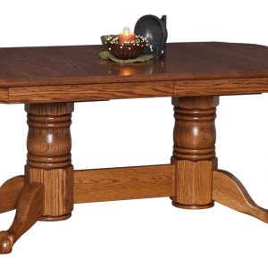 Yorkshire Double Pedestal Extension Table w/ Claw Feet