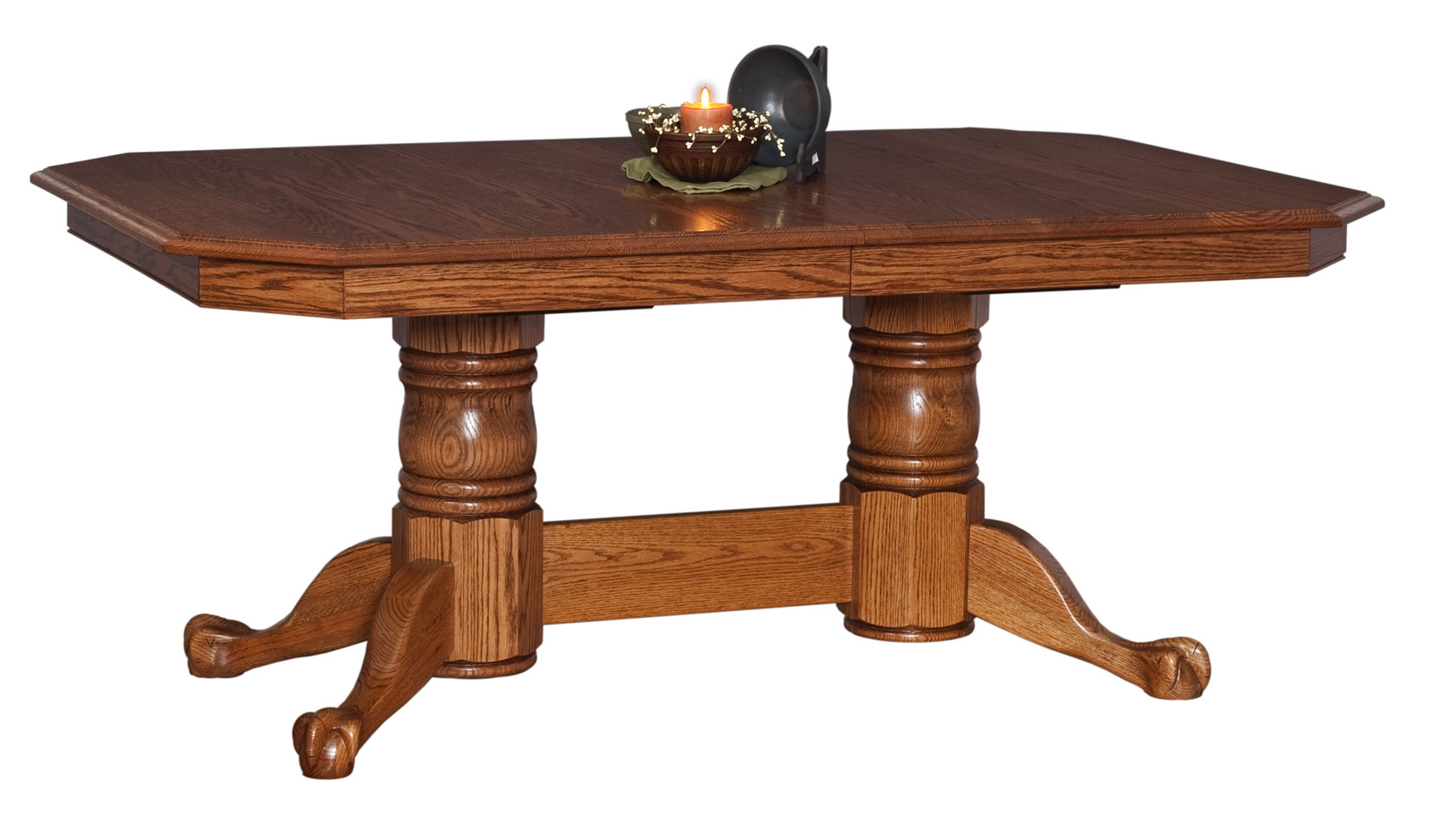 Yorkshire Double Pedestal Extension Table W Claw Feet Martin S Furniture