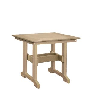 Finch Great Bay Square Poly Table Dining Height
