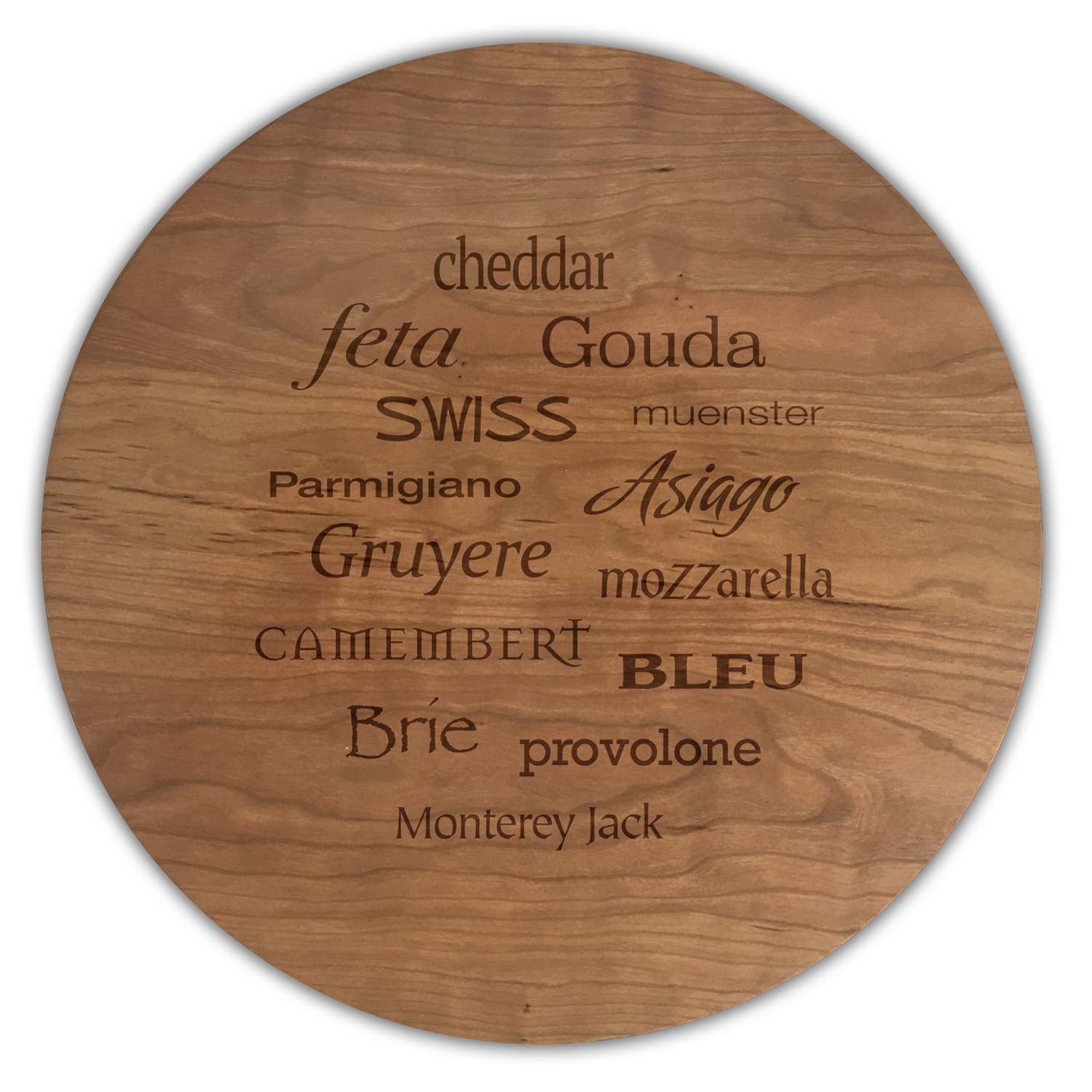 A Taste for Cheese Round Cheese Board