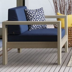 Daybreak Poly Alfresco Deep Seating Chair (Frame Only)