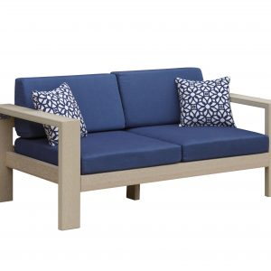 Daybreak Outdoor Poly Alfresco Deep Seating Loveseat - Frame Only