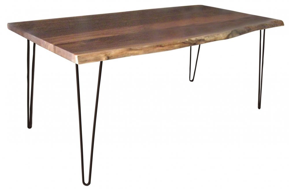 Live Edge Dining Table With Steel Hairpin Base Martin S Furniture