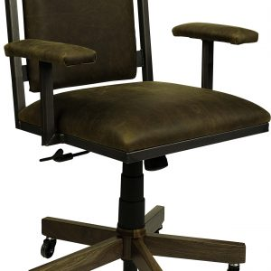 SoHo Office Arm Desk Chair with Leather