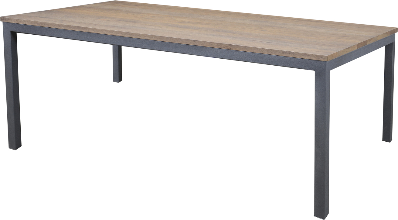 Studio Amish Rectangle Dining Table With Steel Base Martin S Furniture