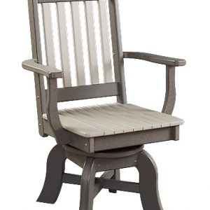 Daybreak Outdoor Poly Conestoga Swivel Dining Arm Chair