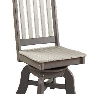 Daybreak Outdoor Poly Conestoga Swivel Dining Side Chair