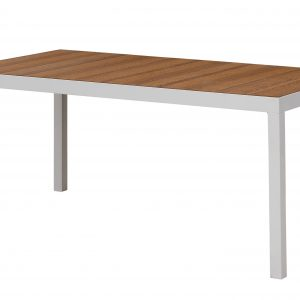 Daybreak Outdoor Poly Edgewood Dining Table with Steel Base
