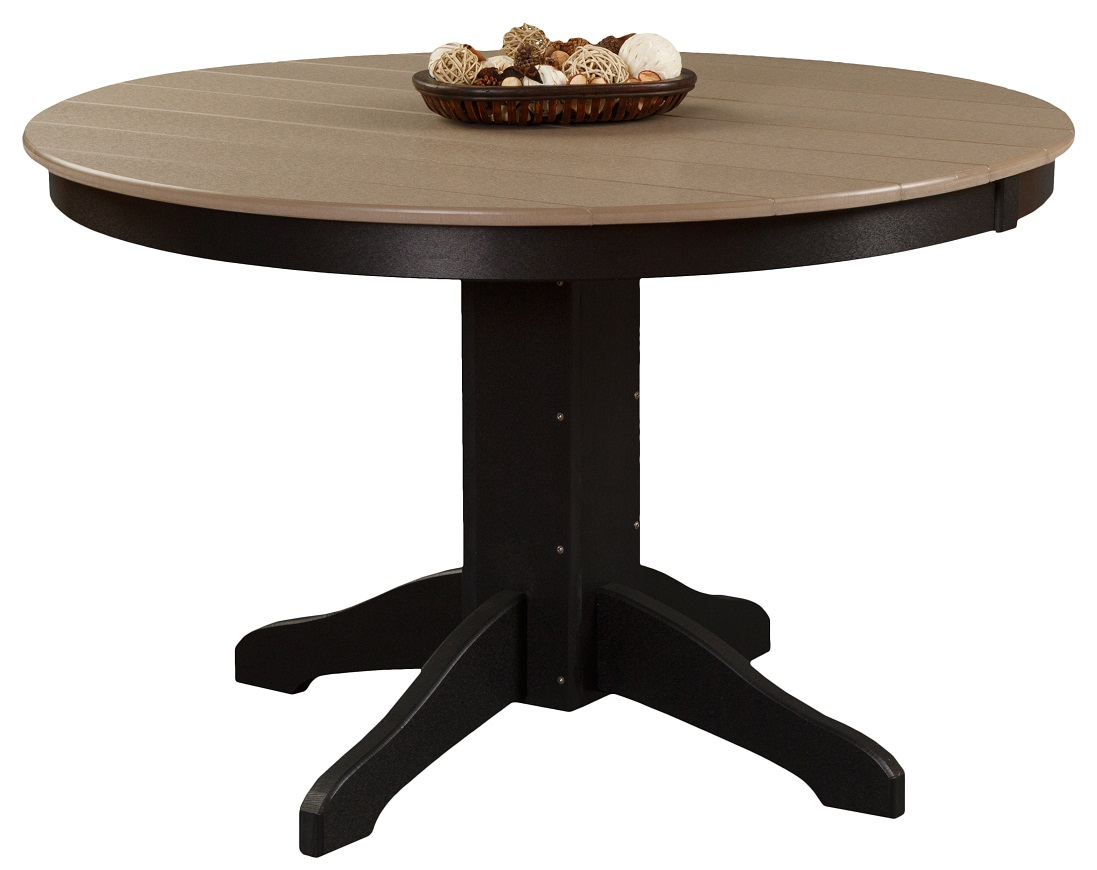 Daybreak Outdoor Poly Pedestal Round Dining Table