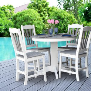 Daybreak Outdoor Poly Round Balcony Pedestal Table