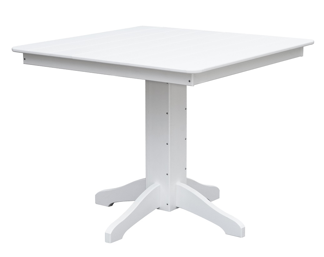 Daybreak Outdoor Poly Square Pedestal Dining Table Martin S Furniture