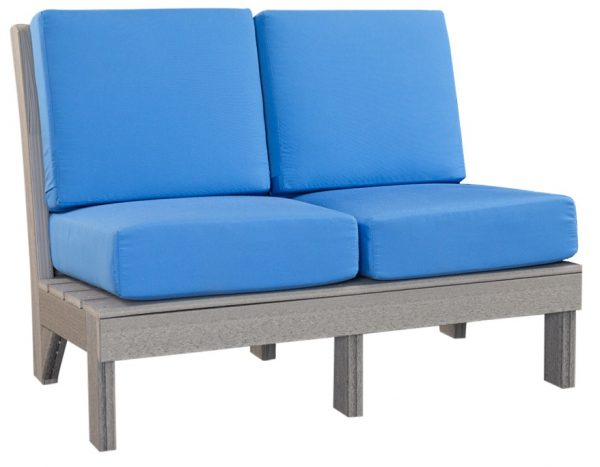 Finch Outdoor Poly Center Mission Love Seat