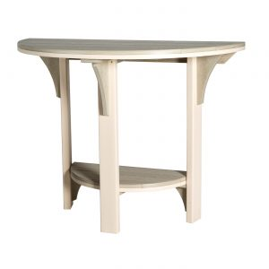 Finch Outdoor Poly Great Bay Half Round Dining Table