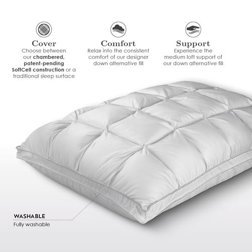 Sleepwell Chambered Dual-Surface Pillow