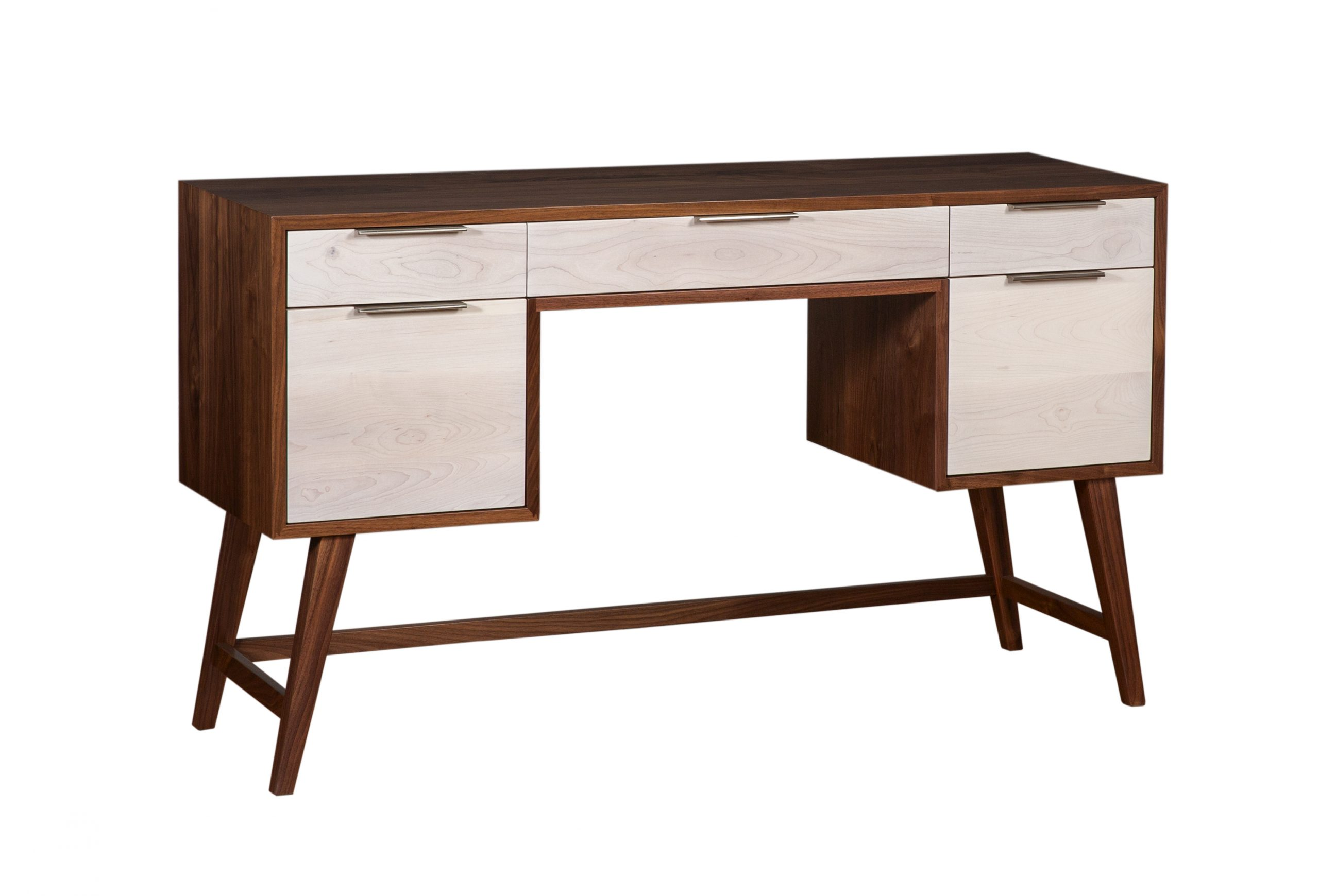 Image of: Danish Mid Century Modern 5 Drawer Writing Desk Martin S Furniture