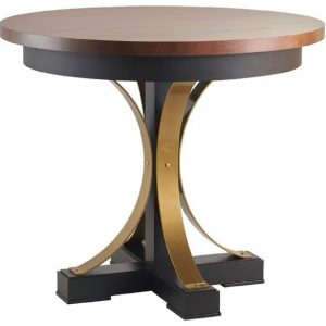 """42"""" Round Amish Studio Counter Table with Steel Pedestal Base"""