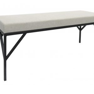 Aubrey Barkman Upholstered Seat Bench with Steel Base