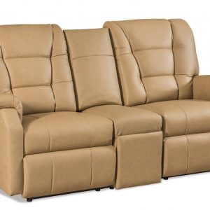 Lambright Reclining Superior Theater Seat with Fold Down Center Console and Under Storage Drawer